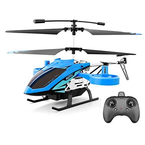 Mini avión RC de 2.4Ghz para niños, 4.5 canales, helicóptero no tripulado con control remoto, avión de juguete para niños resistente a caídas, altura fija inteligente, despegue con un clic, regalo par