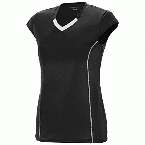 Augusta Sportswear Girls' Blash Jersey L Black/White