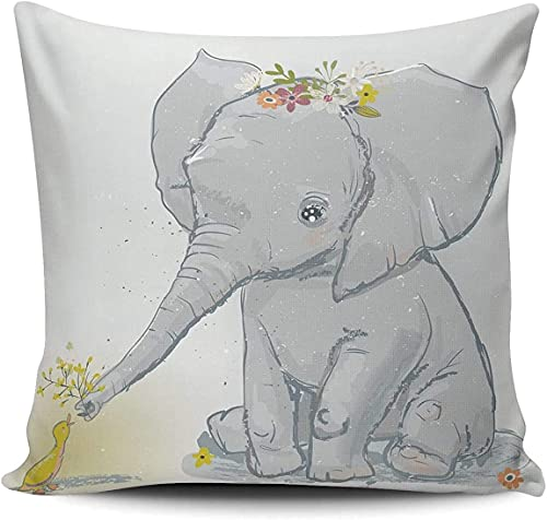 BONRI Funda de almohada cuadrada de rosas y lavanda para el hogar, sofá decorativo de 40,6 x 40,6 cm, funda de cojín de 10 unidades