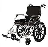 Sedia a rotelle leggera da trasporto,sedia da trasporto pieghevole 18 pollici sedia a rotelle comoda,poggiapiedi oscillante reclinabile sportivo, sedia a rotelle per adulti pneumatici da 20-6 pollici