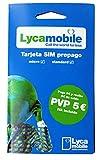 Tarjeta SIM Lycamobile - 5€ de saldo - llamadas...