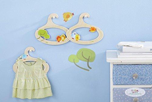 HABA 301181 Kinder-Kleiderbügel Kleine Vögelchen