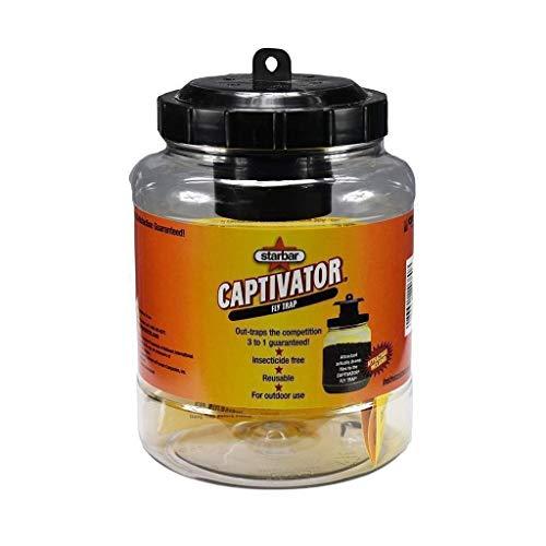 Starbar Captivator Outdoor 2 Quart Reusable Fly Attachment Hanging Jar Trap