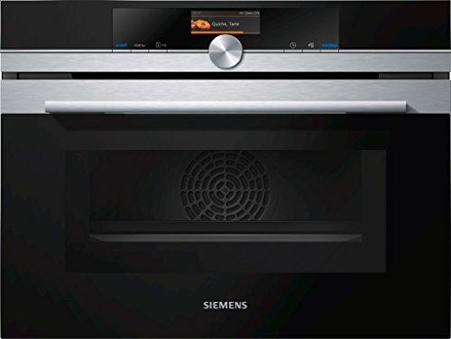 Siemens CM636GNS1 iQ700 Backofen Elektro / 45 L / Edelstahl / Integrierte Mikrowelle / 4D Heißluft