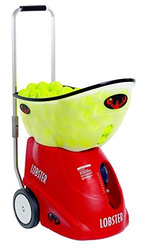 Lobster Sports – Elite Grand Five LE – Battery Powered Tennis Ball Machine – Custom Drills – 12 Player Style Drills – 2-Line Narrow, Med & Wide – Fully Random Oscillation – 150 Balls – 44 lb
