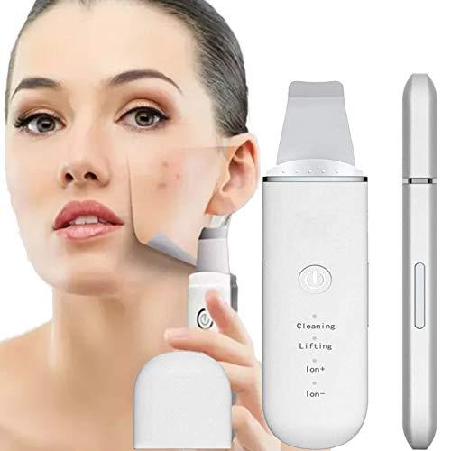 WHY Piel Depurador, Eliminación De Puntos Negros Espátula Facial, Lifting Facial Peeling Dermoabrasión Herramienta para Profundo Poro Limpieza Eliminar Piel Muerta, USB Recargable