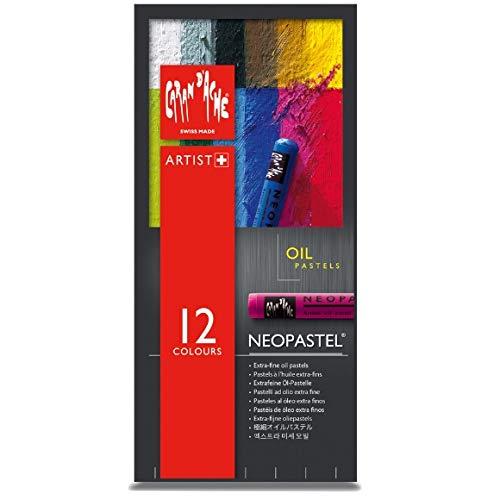 Caran D'ache - Neopastel Artist Oil Pastels - Set of 12 (7400.312)