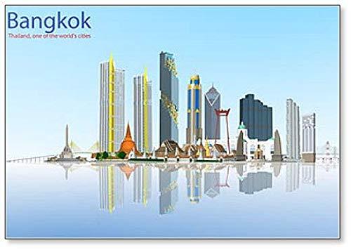 Bangkok, Thailand Gebouwen in grote steden Koelkast Magneet