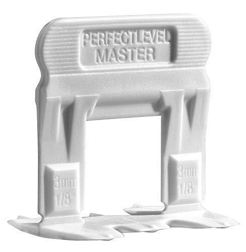 T-Lock 250 Clips Zuglaschen für Fuge 3 mm - Professional Anti lippage Fliesen Nivelliersystem (nur Spacer) - Fliesendicke 6-14 mm, Fliesenverlegung - Verlegesystem von Perfect Level Master