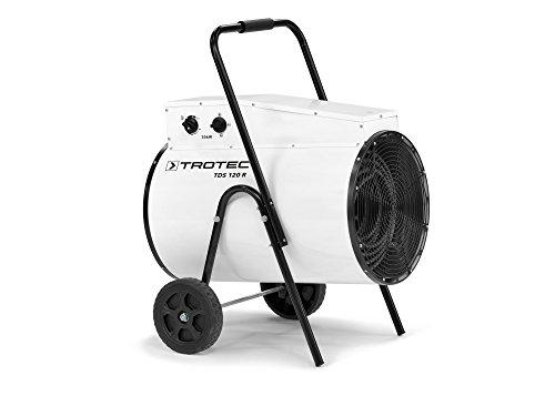 TROTEC TDS 120 R Elektroheizer, Bauheizer mit 30 kW, integriertem Thermostat, Überhitzungsschutz sowie Mehrstufen-Temperaturregelung mit 2 Heizstufen