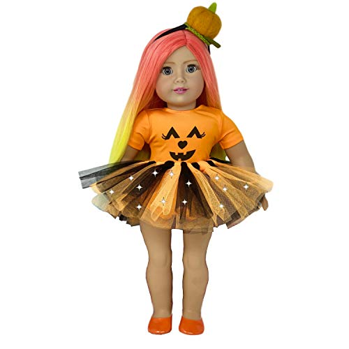 u s toy kids halloween costumes MY GENIUS DOLLS Doll Clothes. Halloween Outfit-Fits 18 inch Dolls Like Our Generation, My Life, American Girl Doll. Accessories:Headband, Shoes and Tutu with Lights   Doll Not Included