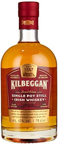 Kilbeggan Single Pot Still Malt Irish Whiskey, Nachklang mit Anklängen von Hafer, 43% Vol, 1 x 0,7l