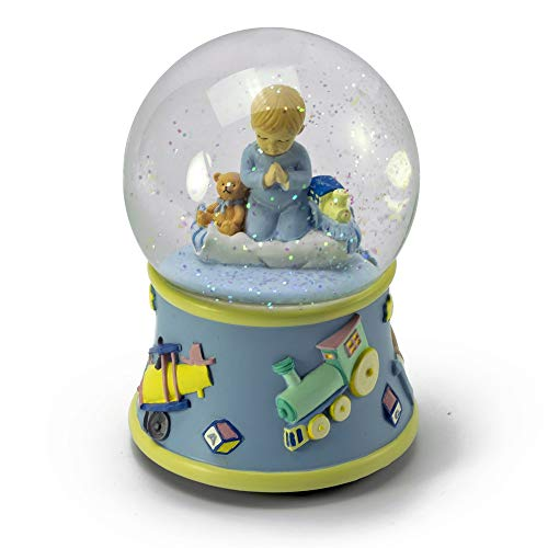 Bedtime Prayers Boy, Rotating Musical Water Globe - Over 400 Song Choices - Three Coins in The Fountain