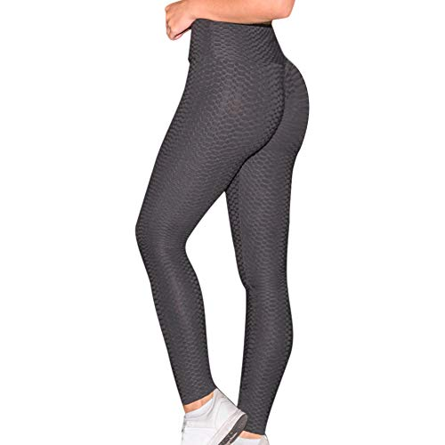 ASOSMOS Frauen Anti-Cellulite-Kompressionsgamaschen Slim Fit Butt Lift Elastic Pants (L, Schwarz)