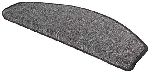 WOHNWOHL® Stufenmatten 15er Set I Treppen-Teppich I Treppenstufen Matten I Stiegenhaus I Wendeltreppe I antirutsch I Größe: 65x28 cm I in 3 I Farbe: Grau