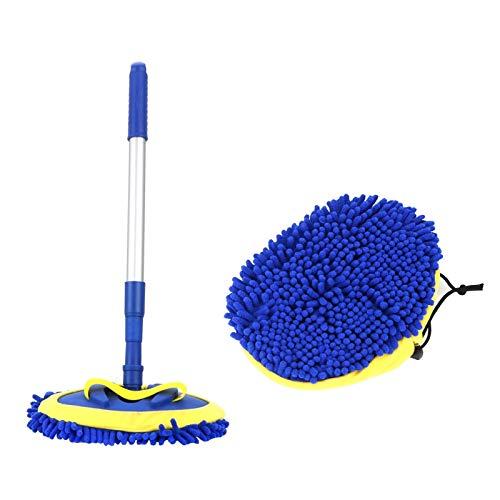 Cuidado de lavado de autos Cepillo de limpieza - Limpieza de coches cepillo de mango largo telescópica Accesorios for automóviles Car Wash cepillo de limpieza de la fregona de la escoba de chenilla Mi