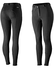 HORZE Pantalones para Montar con Asiento Completo de Silicona para Mujer Active