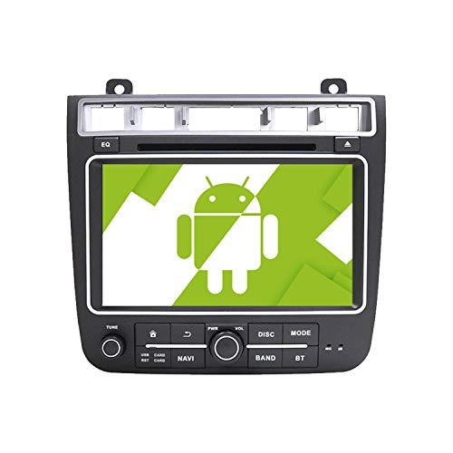 AOTSR 8 Pulgadas Android 10.0 Radio de Coche Reproductor Multimedia Autoradio para Volkswagen VW Touareg 2011-2017 Navegación GPS Bluetooth DSP Integrado Radio Carplay IPS Pantalla Táctil WiFi