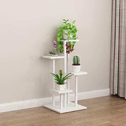 GJ-HJ Etagère à Fleurs Étagère en Fer à Fleurs Rangement Multifonctionnel étagère à Fleurs Vert Plante présentoir Blanc Porte-Fleurs (Taille : 40 * 40 * 88cm)