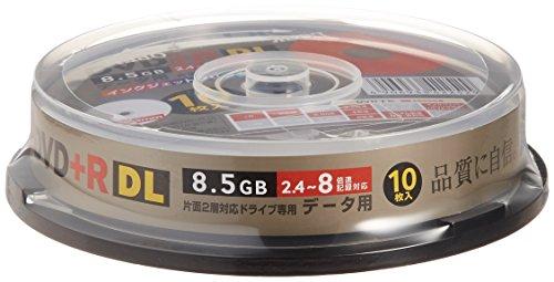 TDK DVD+R 片面2層(8.5GB) 2.4~8倍速 インクジェットプリンタ対応(ホワイト) ポットケース入り 10枚 D+R85PWB10PS
