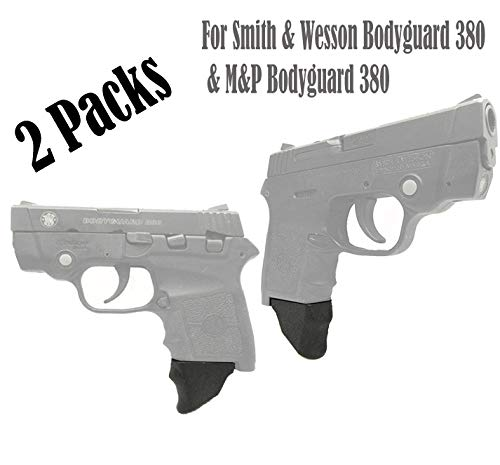 E-ONSALE Pack of 2 Grip Extensions Fits Smith & Wesson Bodyguard 380 & M&P Bodyguard 380 (M380-XL/ 2PCS)