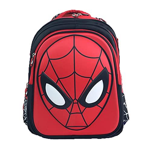 Hflyy Mochilas Niños Spiderman Mochilas Superhéroes Niños Mochilas Viaje Casual Kit Almuerzo Escolar para Niños Mochilas Impermeables Al Aire Libre Mochila Clásica De Anime,Black-29 * 12 * 34cm