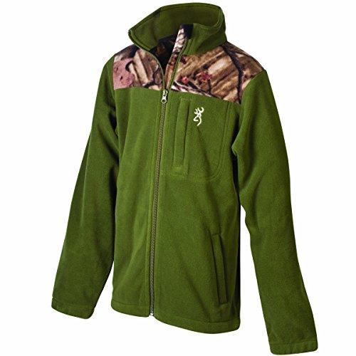 Browning Boy 's Steep Fleece Jacke Moos Small moos