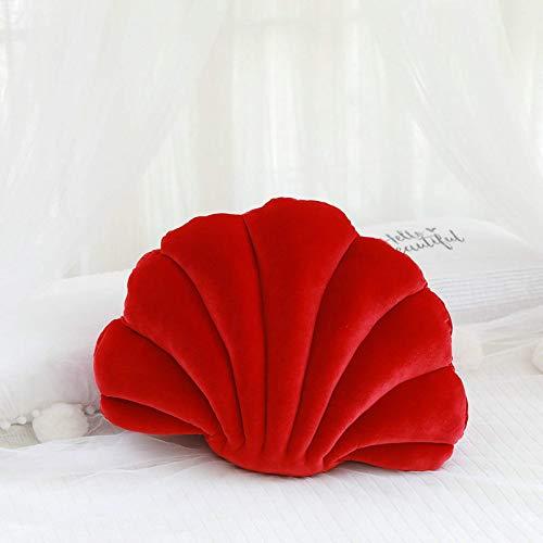 N / A Luxus Shell Gefüllte Kissen Fantastisches Samt Kissen Sea Shell Home Decor Bett Sofa Kissen Dekoration Geschenk ca. 46X33cm