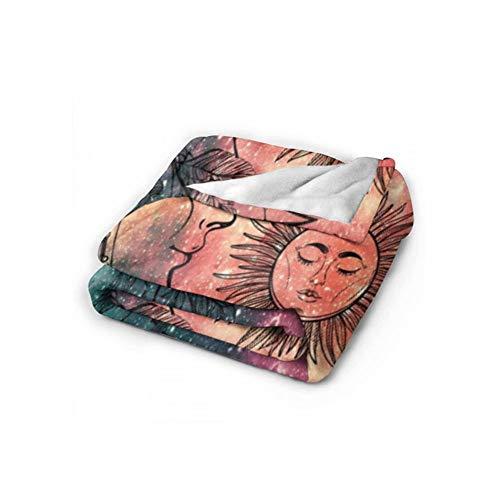 Wohndecken Decke Indian Throws Sofadecke Reversible Superweiche und warme Decken Wohnzimmer Dekorativ für Sofa und Couch Grün-150x230CM