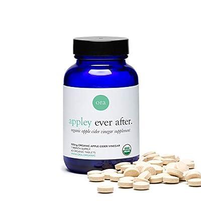 Ora Organic Apple Cider Vinegar Pills - ACV Metabolism Booster, Detox Cleanse, Weight Management - Organic Apple Flavor, 1 Month Supply, 60 Vegan Tablets from Ora Organic