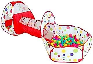 Actnow 子供用テント 3点セット トンネル 折り畳み式 キッズテント ボールプール 女の子 バスケットネット 収納バッグ付き 男の子 お誕生日 出産祝いのプレゼント
