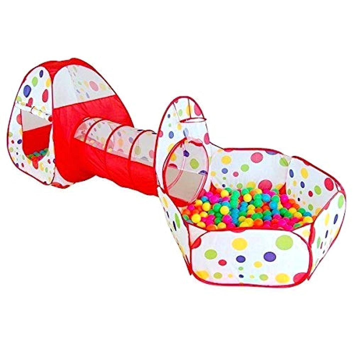 空のただやる算術Actnow 子供用テント 3点セット トンネル 折り畳み式 キッズテント ボールプール 女の子 バスケットネット 収納バッグ付き 男の子 お誕生日 出産祝いのプレゼント