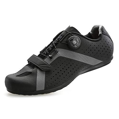 [サンティック] メンズ サイクリング ロードバイク シューズ ノンロック 自転車 超軽量 初心者 2A ブラック 26.0 cm 2A