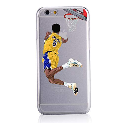 JLFDHR Moda Cellulare Soft Shell Cartoon Sport Basket Custodie per cellulari Cover -per iPhone 7 8plus