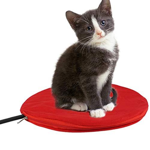 HUNDEHÜTTEN Heizmatte Wärmematte Heizplatte Haustier Heizdecke/Heizdecke für Haustiere Wärmematte Katzen Hunde Heizkissen Mit 7 Einstellbaren Temperaturen 30Cm*30Cm