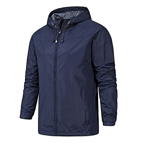 Otoño invierno estilo hombres al aire libre chaqueta de los hombres al aire, azul, XL