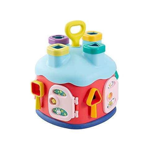 Juego de formas de bloques de construcción de educación temprana, juguetes educativos interactivos de cubo de actividad para bebés de 0-3 años, juguetes educativos hexaédricos, juguetes de aprendizaje