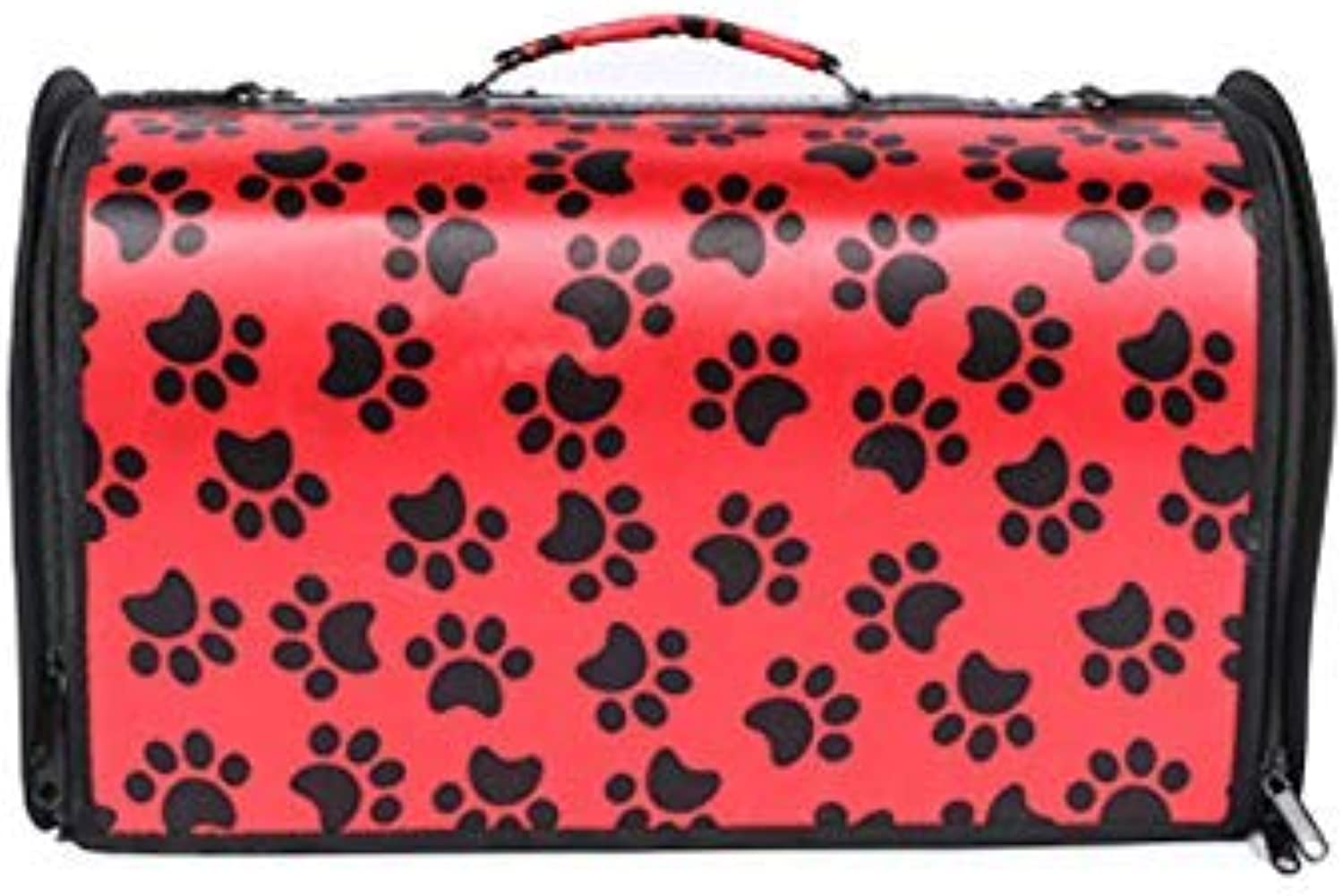 Pet Travel Carrier Pet Travel Carrier Tote Hands Free Pet Puppy Outdoor Bag Reversible Ourtdoor Pet Bag (color   RED, Size   L)