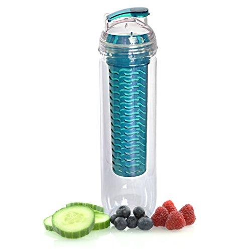 RSP GoodLife Auslaufsichere Trinkflasche mit Fruchteinsatz I Wasserflasche Infuser Fruchtschorlen Sportflasche für Sport Fitness Fahrrad Outdoor Kinder Wasser Frucht Flasche aus Tritan bpa frei