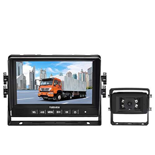 Haloview MC7601 Sistema di telecamere retromarcia cablate Monitor da 7 pollici con telecamera impermeabile IP69K Taglio IR SMART per autobus / rimorchi / camion / furgoni / camper / agricoltura