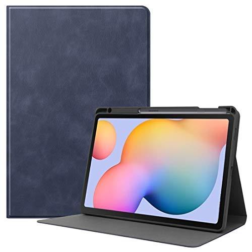 Fundas para tabletas Galaxy For el caso de cuero del tirón de Samsung Galaxy Tab S6 Lite P610 / P615 piel de vaca Textura de TPU de la tableta horizontal con el sostenedor y Sleep / Reactivación de fu