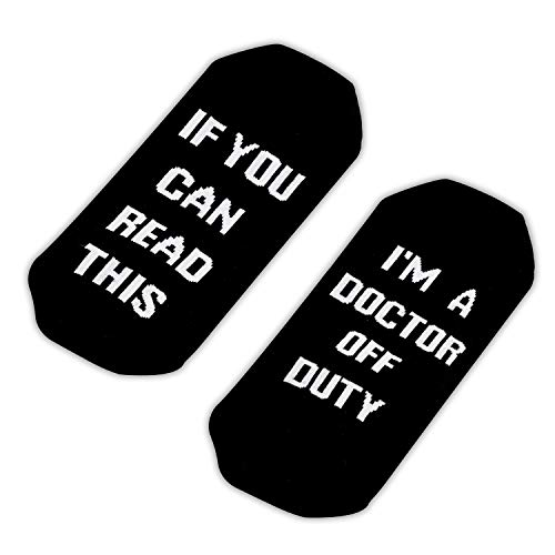 TSOTMO If You Can Read This I'M Doctor Off Duty Socks (Doctor Socks)