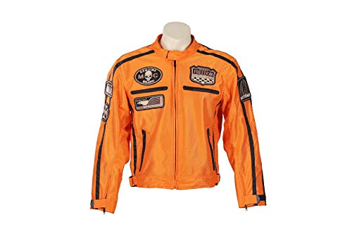 BOS Sommer Motorradjacke (5XL, Orange)