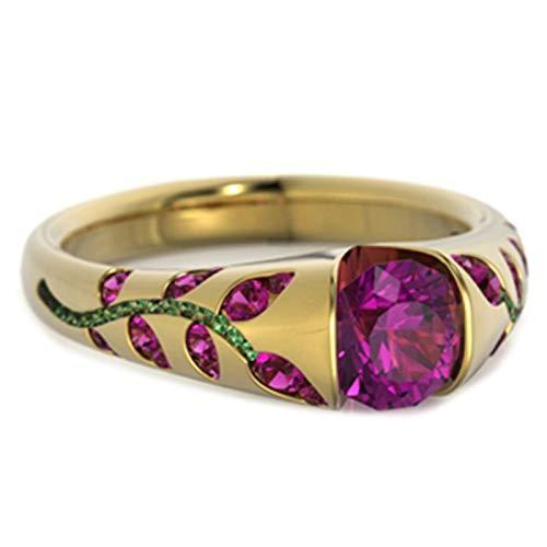 Anillo de dedo Benoon para nudillos, anillo de dedo con incrustaciones de diamantes de imitación de zafiro de imitación de diamantes de imitación anillo de dedo - oro rosa US 10