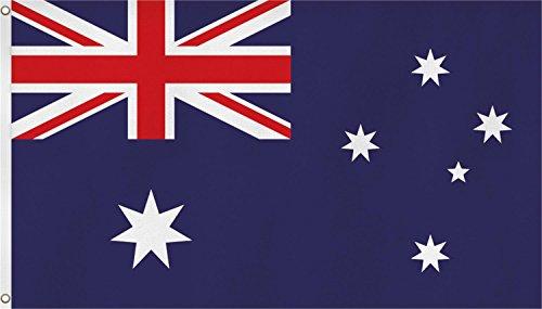 normani Fahne mit Messingösen 90 x 150, 150 x 250 oder 300 x 500 cm wählbar Farbe Australien Größe 90 x 150