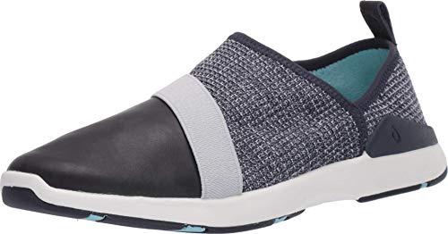 OLUKAI Women's Miki Slip Shoes, Vintage Indigo/Trench Blue, 6 M US