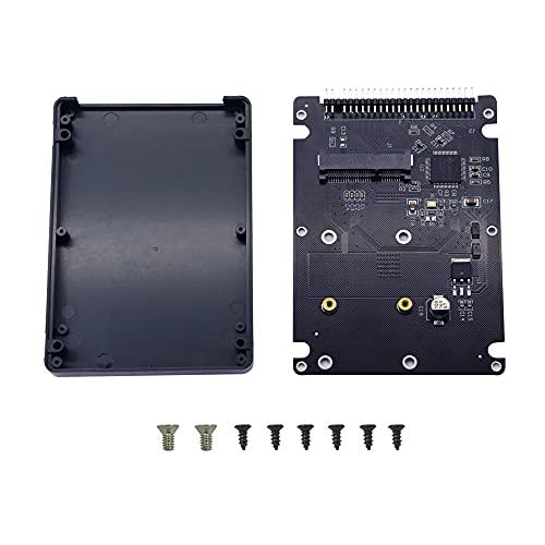 Custodia per disco rigido IDE GINTOOYUN, Mini PCI-E SSD MSATA a scheda convertitore IDE 44 pin da 2,5 pollici con guscio, nero per notebook, computer desktop e altro