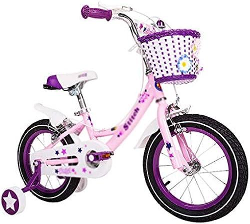 Kinderfürrad 12 14 16 Zoll Kinderwagen Hohe Elastizit Komfortable Sitzsicherheits-Doppelbremse (Farbe   Rosa, Größe   16(113  16  5cm))