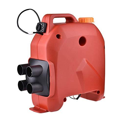 Calentador coche, 5KW 12V/24V Calentador estacionamiento con temporizador diésel aire para automóvil compatible con RV, remolque autocaravana, camiones, barcos, caravanas (39.5X16X38m/rojo, negro)