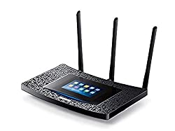 TP-Link Touch P5 AC1900 Dual Band Touch Screen Wireless Gigabit Cable Gaming Router, 1 GHz Dual-Core Processor, USB 3.0, 2.0 Ports, Support Range Extender and Access Point Mode